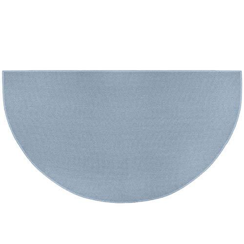 qianele Fácil de limpiar y atrapa la suciedad, medio círculo, no se desprenden y se pueden lavar por chorro, felpudos para exteriores, una alternativa práctica a los felpudos de fibra de coco