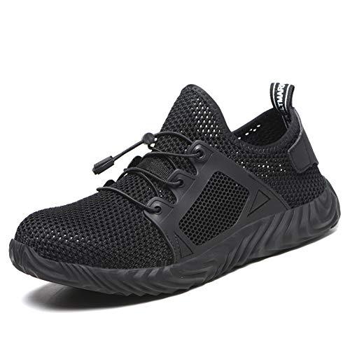 Calzado de Seguridad Hombre Mujer Ligero Zapatos de Trabajo S3 Puntera de Acero Transpirables Zapatos de Industria