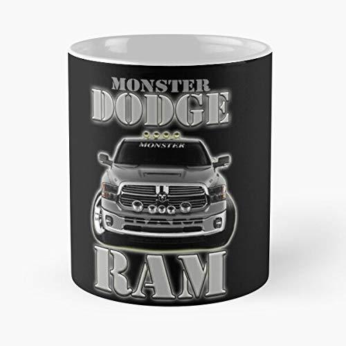 5TheWay Dodge Ram Monster Mug Best 11 oz Kaffeebecher - Nespresso Tassen Kaffee Motive