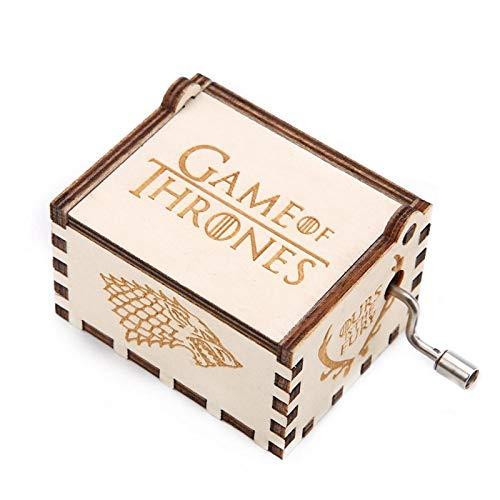 Leftwei Carillon a manovella, Carillon Intagliato, Semi Meccanico q per Regalo di Compleanno Regalo di Anniversario(Game of Thrones)