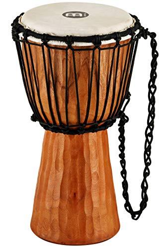 Meinl Percussion HDJ4-S, Djembe in legno, serie Headliner/Nile, tiraggio a corde, diametro 8', 20.32 cm, misura S, Marrone
