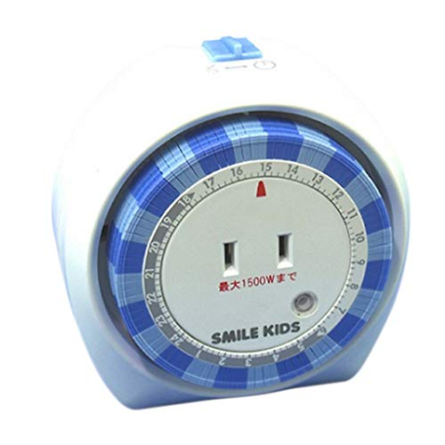 スマイルキッズ ACT-100 24時間タイマーコンセント 236-00031 ブルー/ホワイト