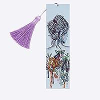 ダイヤモンドペインティング絶妙なプリティガールレザーブックマークタッセルブックマーククラフトデコレーション特殊形状のダイヤモンド刺繍