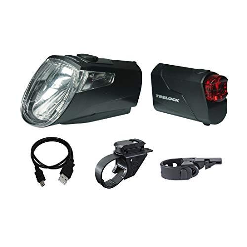 Trelock 204625 Unisex– Erwachsene Ls 360/720 Eco Beleuchtungsset,schwarz,Einheitsgröße