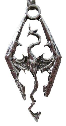 ジ エルダースクロールズスカイリム(The Elder Scrolls SKYRIM)ドラゴンシルバーペンダント/ネックレス 20インチチェーン付き