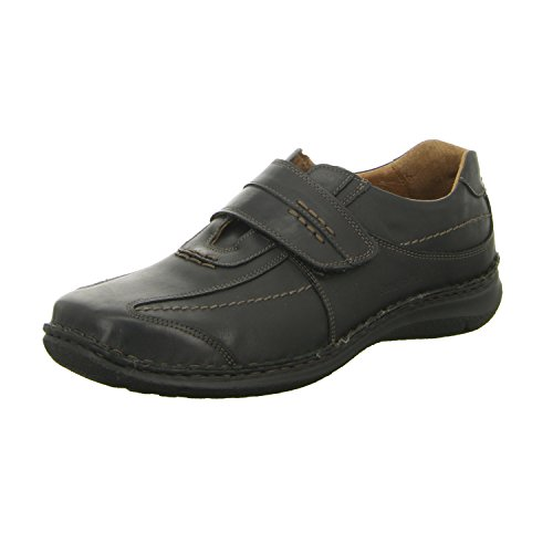 Josef Seibel Herren Halbschuhe ALEC, Männer Kletthalbschuhe, Freizeit leger Halbschuh Klettverschluss strassenschuh Sneaker,schwarz,43 EU / 9 UK