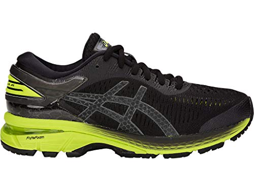 Price comparison product image ASICS Kid's Gel-Kayano 25 GS Running Shoes,  4M,  Black / NEON Lime