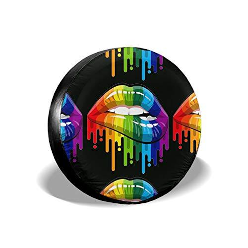 LGBT MOTSS Gay Pride The Gay Team Cubierta de llanta de refacción A Prueba de Polvo a Prueba de Polvo Diámetro de la llanta 16 Pulgadas