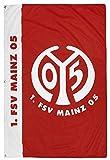 Flaggenfritze Hissflagge 1. FSV Mainz 05 Schriftzug - 100 x 150 cm + gratis Aufkleber