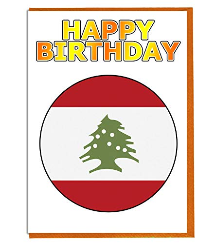 Libanon-Flagge – Geburtstagskarte – Freund – Familie – Kollege – Mate – Boss – Loved One