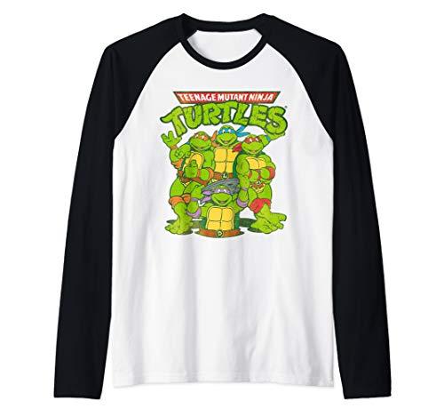 TMNT All Ninja Turtles With Names Raglan Baseball Tee
