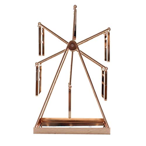JJZXD Pendiente de metal para poner la rejilla de pendiente de joyería, soporte de exhibición de joyería giratoria creativa para la casa de la casa, rack de almacenamiento de pendiente