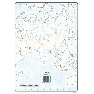 Mapa Mudo Asia Político A4 (10 ud.)