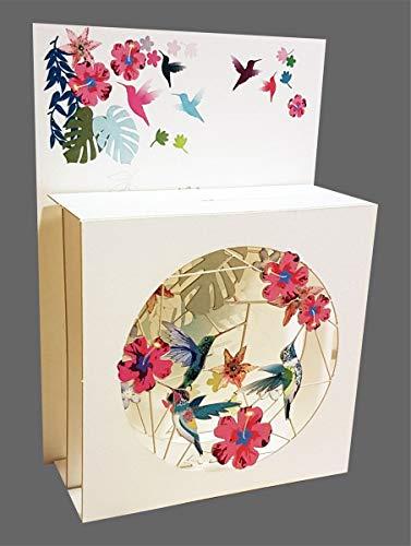 3D Multi-layered Magic Box Card - Hummingbirds