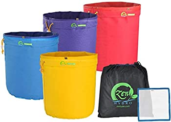 iPower 1 Gallon 4 Herbal Ice Bubble Bag Hash Essence Extractor Kit Free Storage Bag & Pressing Screen Yellow Blue Purple Red