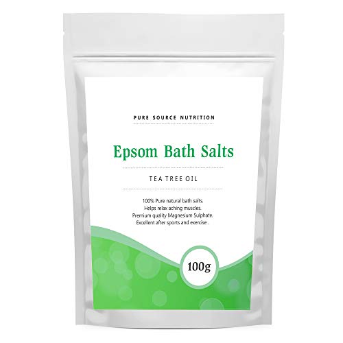 Epsom Salt For Bath 100G Of Pure Magnesium Used For Muscle Recovery And Relaxation 9 Scents Available (Tea Tree Oil)
