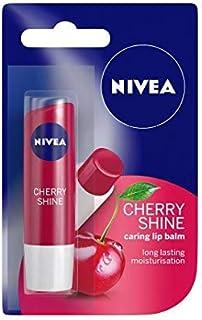 Nivea Cherry Shine Caring Lip Balm - Long Lasting Moisturisation - 4.8g