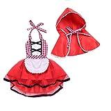 Costume di Natale per Bambino Bambina Vestito Pagliaccetto Completo Tutina in Velluto Morbido Caldo Abito per Festa Natale Capodanno 0-4 Anni (Complto 2 Pezzi (Mantello+Abitino), 0-6 Mesi)