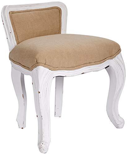 Better & Best zitzak, gestoffeerd, wit, hout, 44 x 33 x 53 cm