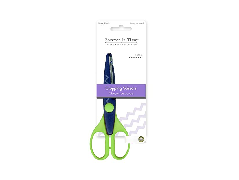 Forever in Time ST170H Cropping Scissors, Metal Blade, 6.5in, Zigzag