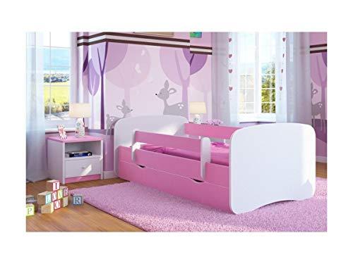 Baby Dreams - lettino singolo da bambina, colore: rosa, con materasso e cassetto