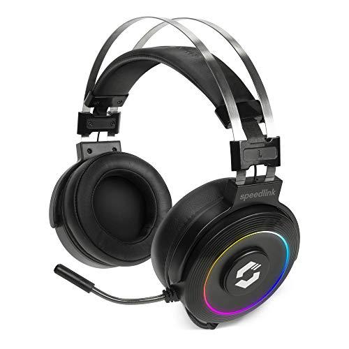 Speedlink ORIOS RGB 7.1 PC Gaming Headset mit flexiblem Mikrofon - RGB Beleuchtung, schwarz