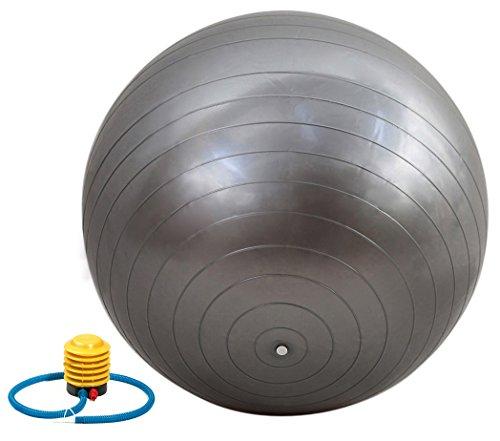 QUBABOBO PVC Palla di Yoga Anti-Scoppio Balance Palla di Swiss, Esercizi, Allenarsi, Fitness e Pilates – Extra Spesso Palla di Nucleo Strength durevole + pompa libera