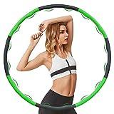 Yeying Hula Hoop Reifen Erwachsene Kinder 6-8 Abnehmbare Abschnitte Geeignetfür Erwachsene & Kinder Hula Hoop Reifen für Fitness zur Gewichtsabnahme/Bauchformung/Zuhause/Büro 1,2 KG (Color : Vert)…