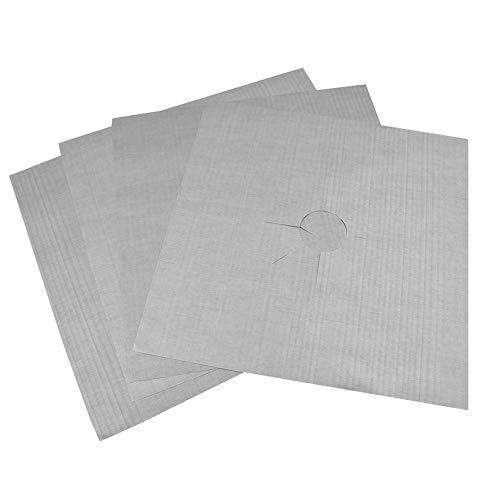 ukYukiko Herbruikbare Aluminium folie 4 stks/partij Gas Fornuis Beschermers Cover/Liner Herbruikbare Niet Stick Silicone Vaatwasser Veilig