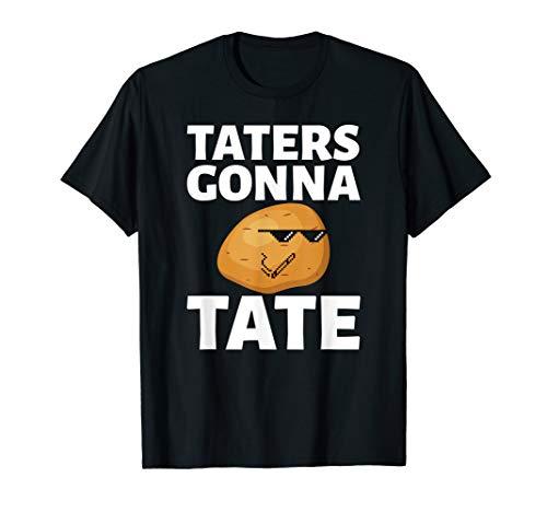 Kartoffelstampfer Tayto Hasser Tate Pun T-Shirt
