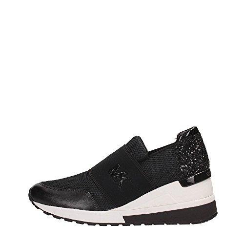 Michael Kors Sneakers, Donna, Tessuto e Pelle, Black 43S7FXFS1D-001 (Numeric_35_Point_5)