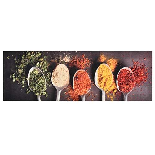 vidaXL Alfombra de Cocina Lavable Spoons Felpudo Pasillo Oficina Salón Sala de...
