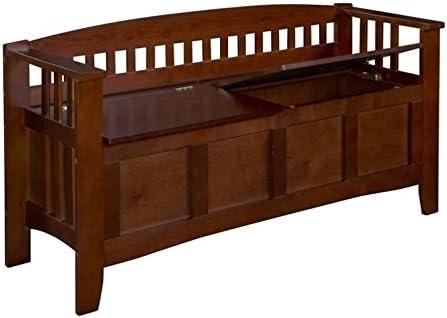 Riverbay Furniture Storage Short Walnut Split Seat in Max ! Super beauty product restock quality top! 87% OFF