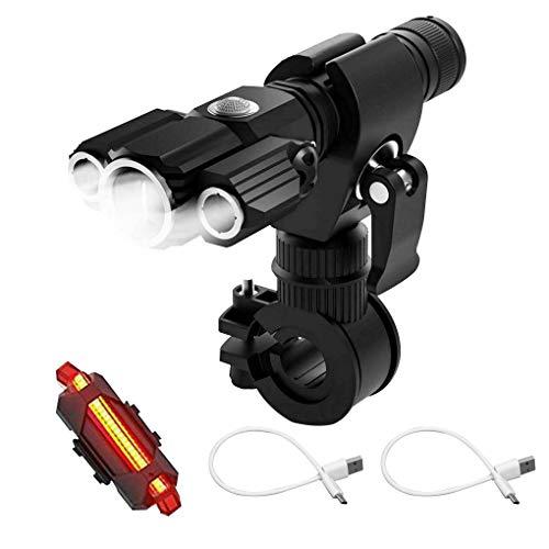 Kesilian Frente Bicicleta luz Trasera LED Trasera de la Linterna 4 Modos de 360 Grados Que giran la Bicicleta de la lámpara de Ciclo de Accesorios