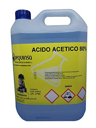Acido Acetico 80%. Envase 5 Litros.