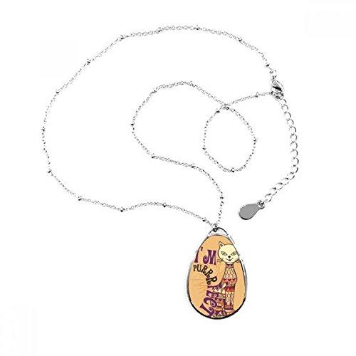 DIYthinker Collar con Colgante en Forma de lágrima, diseño con Texto en inglés I'm Slogan Colorful Cat Protect Animal Pet Lover