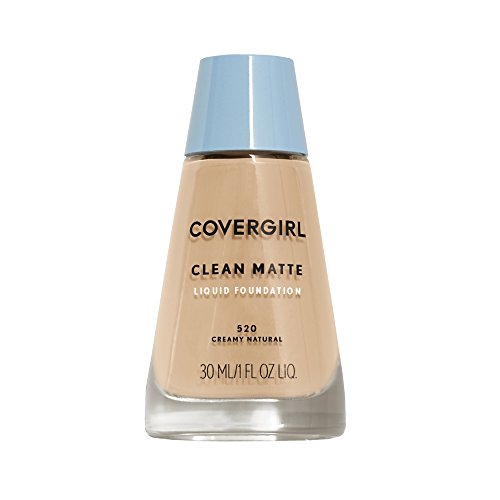 COVERGIRL, Clean Matte Liquid Foundation, Creamy Natural, 1 Ounce, 1 Count (packaging may vary)
