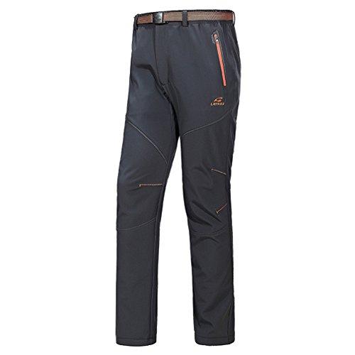 FLYGAGA Femme Softshell Doubl/é Polaire Pantalon Coupe-Vent Imperm/éable Outdoor Sport Camping Randonn/ée Escalade Pantalon