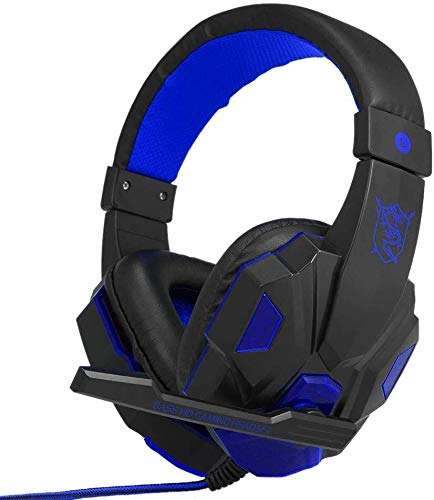 WHSSobre-Oído del Auricular For Juegos For PC Portátil con El Control del Micrófono del Alambre, Enchufe De 3.5mm LED Control De Volumen Auriculares For Juegos