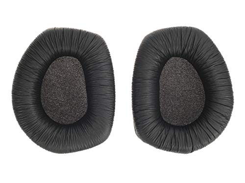 Ersatz Ohrpolster für Sennheiser RS 165, 175, 185 Kopfhörer | Ersatzpolster | Schwarz | PU Leder