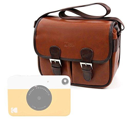 DURAGADGET Bolsa Profesional marrón con Compartimentos para Cámara instantánea Kodak Printomatic