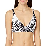 Splendid Women's Halter Swimsuit Bikini Bra Top, Adrift Black, L
