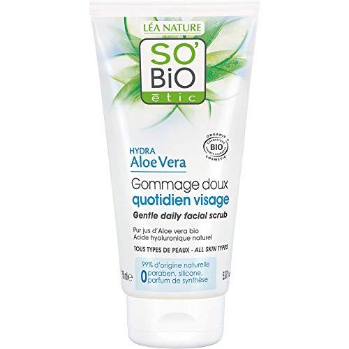 SO'BiO étic Cosmos Organic Hydra Aloe Vera Delicatamente Daily Scrub Viso, 150 ml