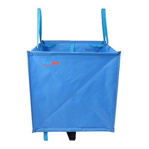 MagiDeal Cube Panier de Rangement Sac Pliage en Nylon pour Stockage de Corde Escalade Arbre Arborist Arboriculteur - Bleu, Taille Unique