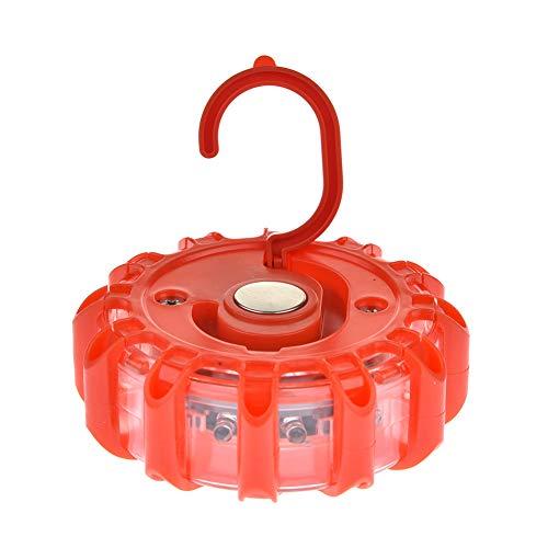 Aiohdg verkeersbord, dimbaar, LED, spions, draadloos, verlicht 9 straals, rood licht voor de auto met magneten