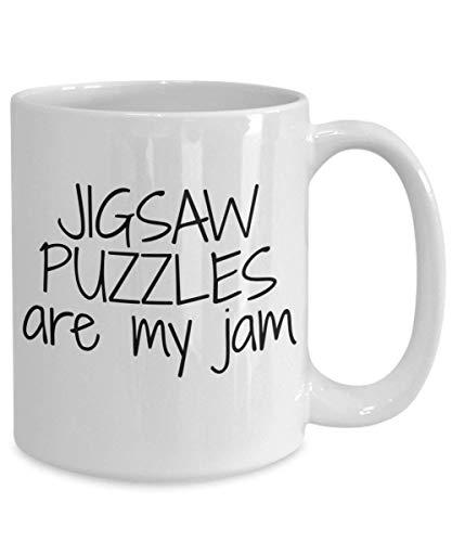 N\A Taza de Rompecabezas Los Rompecabezas Son mi Taza de café de Mermelada Taza de café de cerámica