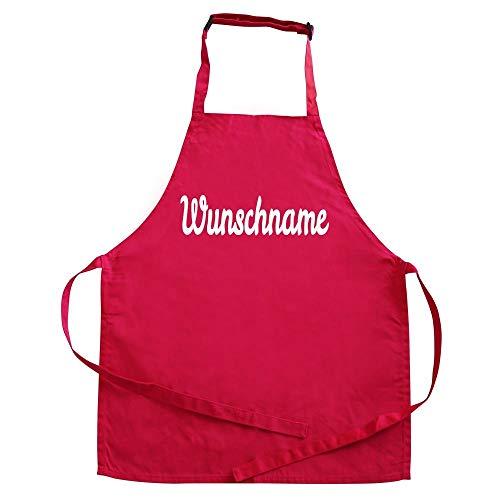 Kinder Schürze Malschürze Kochschürze mit Namen personalisiert 3-6 Jahre pink