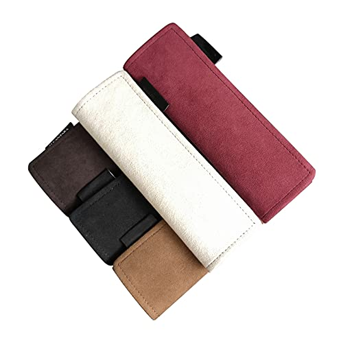 Coche seguro Ajuste del cinturón de seguridad Ajustador Asiento de coche Cinturones de almohada Proteger Pad Hombro Correa de seguridad Cubierta de cinturón automático ( Color Name : Coffee 1pcs )