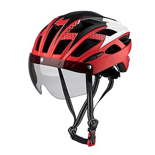 MOKFIRE Casco de Bicicleta para Adultos Casco de Ciclismo de Carretera de...
