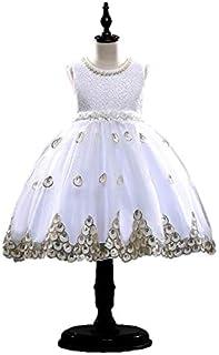 ガールズレースワンピースKLS001ピアノ発表会 結婚式 演奏会 子供ドレス